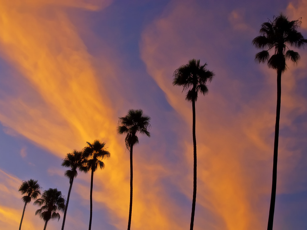 Santa Barbara features stunning sunsets, whether you're in the mountains or by the sea.