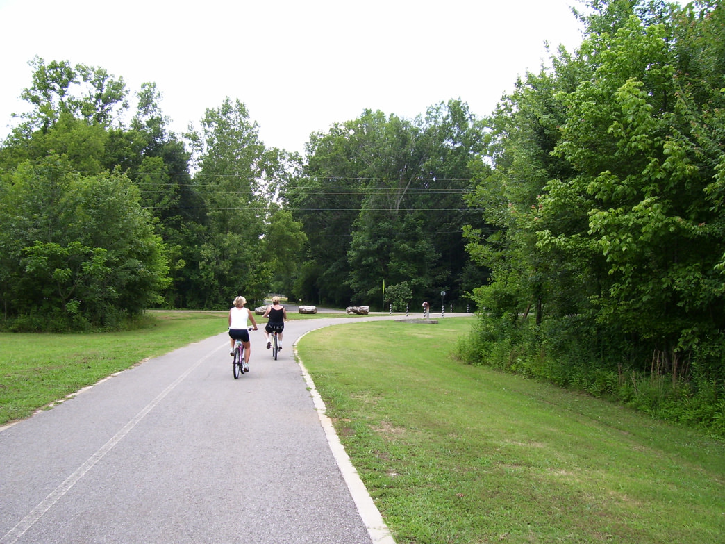 Riders on the Big Cove Creek Greenway