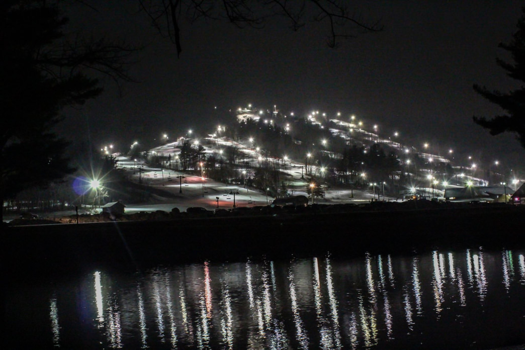 Night skiing at Gunstock is a special treat.