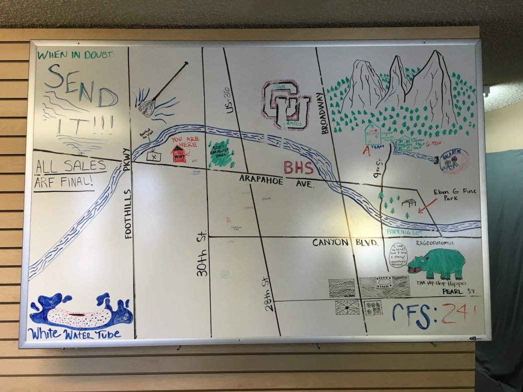 Whitewater Tube Company has a handy map of the creek to help you plan.