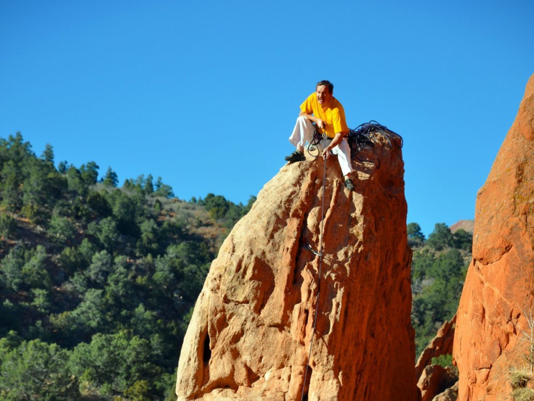 Climbers at Garden of the Gods, CO