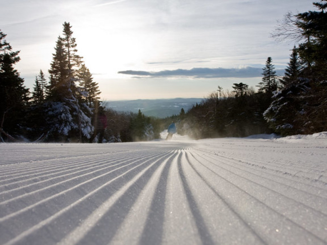 Mount Snow's trademark low-energy snow guns create lighter snow that covers more of the mountain. It also skies really nicely when groomed.
