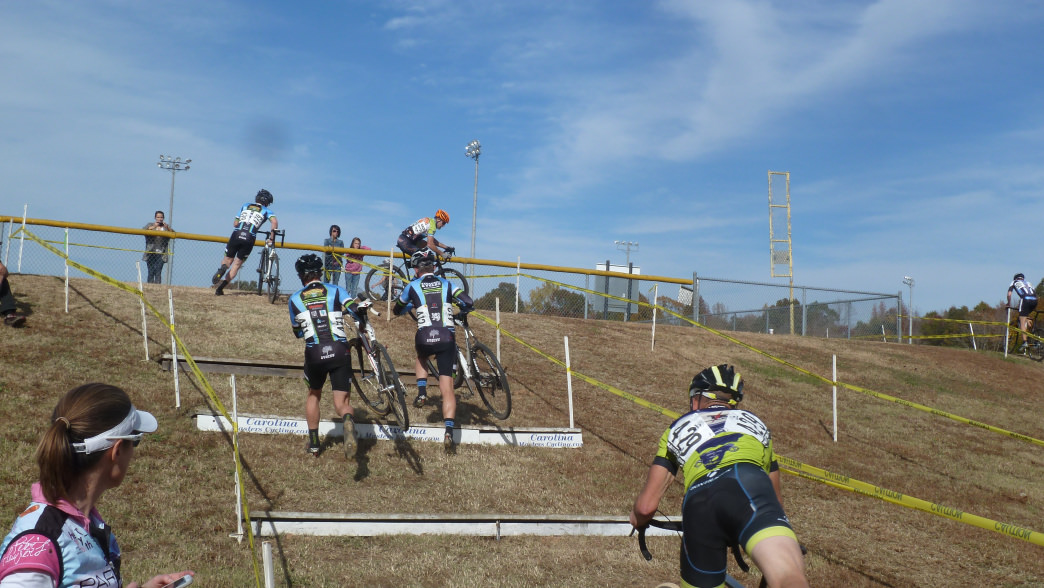 Obstacles  make for a different challenge than road riding.