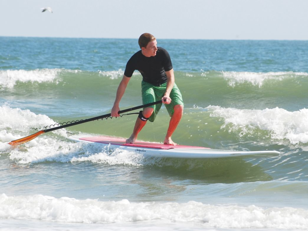 A paddle surfer in HHI