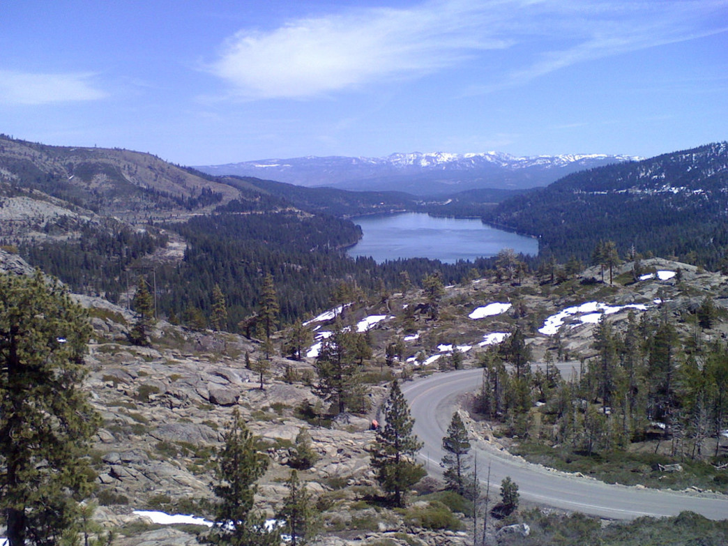 View of Old Highway 40 and Donner Lake