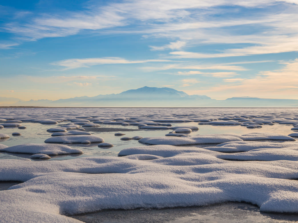 In the winter, Antelope Island State Park can be a beautiful place to visit—without any of the summer crowds.