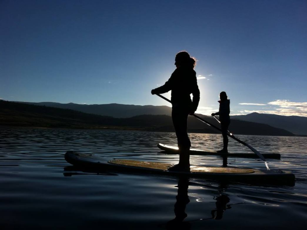 Grizzly Reservoir offers serene paddling at sunset (or whenever).