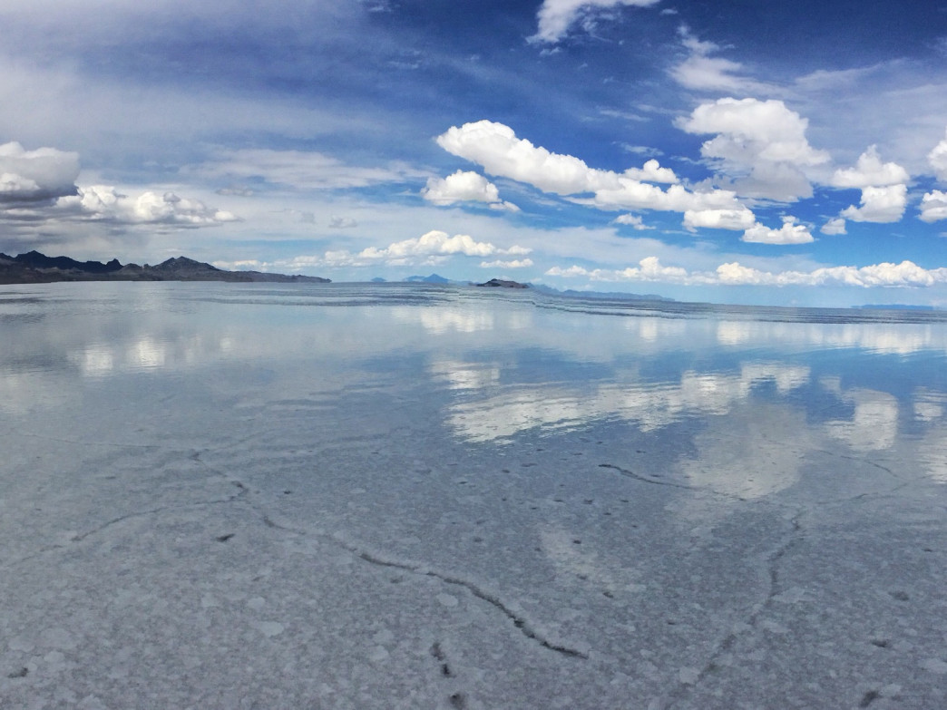 The otherworldliness of the Bonneville Salt Flats.
