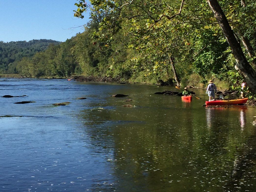 Kayak Fishing is a popular activity in the teeming waters of the New River
