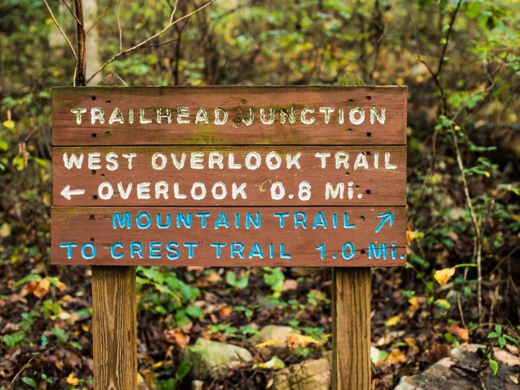 From the trailhead junction, there are two ways to get to the Crest Trail at the summit.