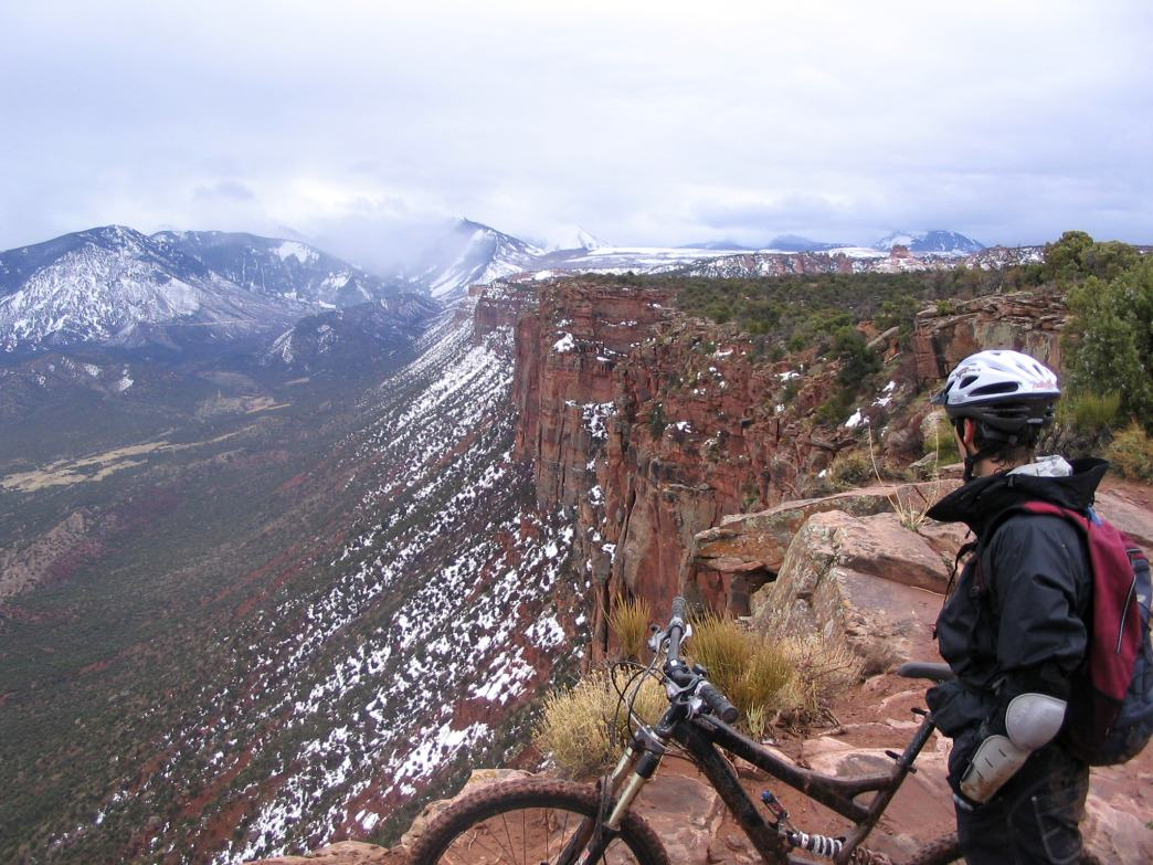 Snowbiking above Porcupine Rim is a wonderful winter thrill.