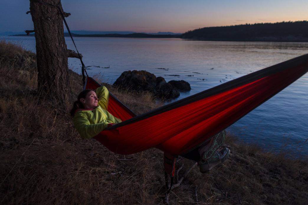 A quiet evening from a seaside hammock.      Jeff Bartlett
