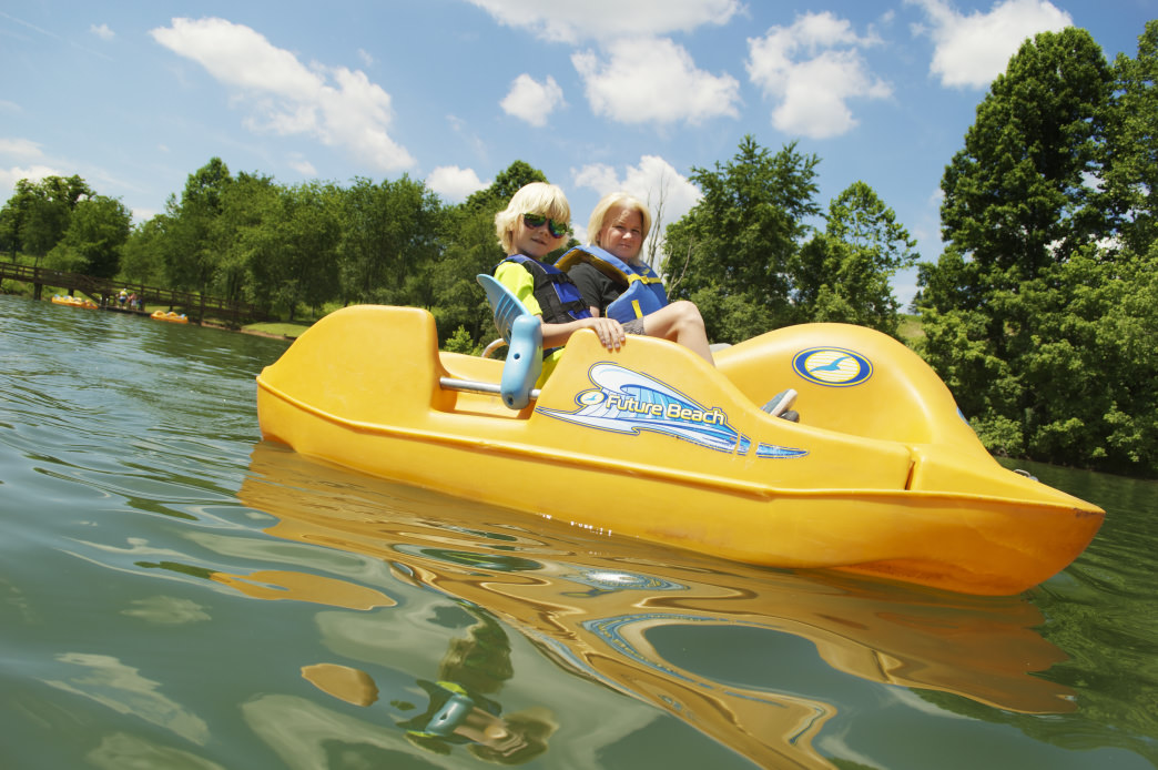 The lake at Stonewall Resort is perfect for kayaking, canoeing, stand-up paddleboarding, and paddleboating.     Chris Audia