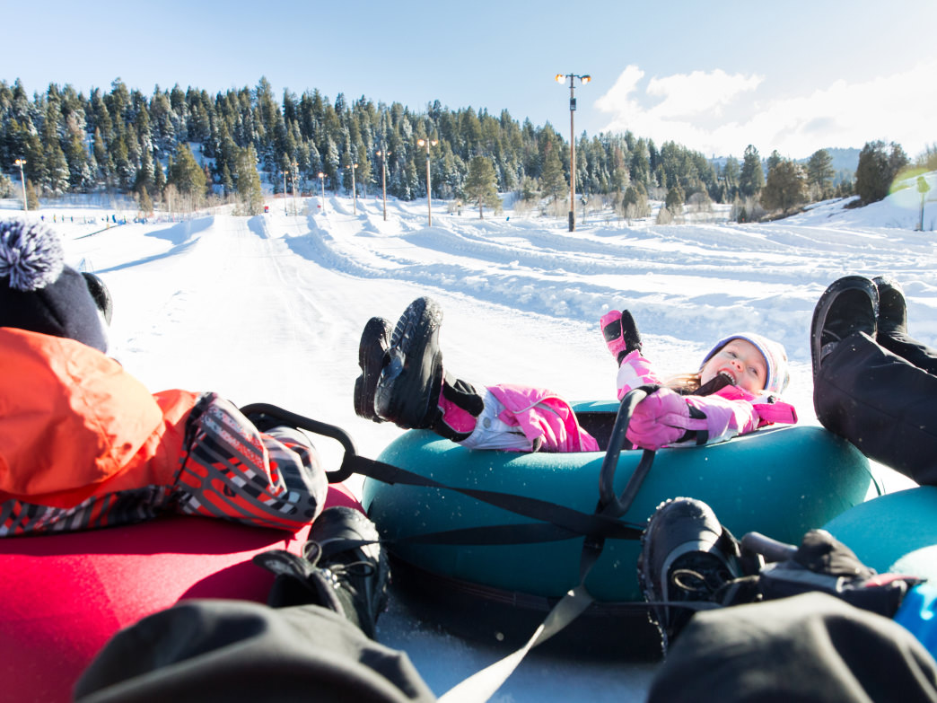 Tubing is a great family activity in Park City.