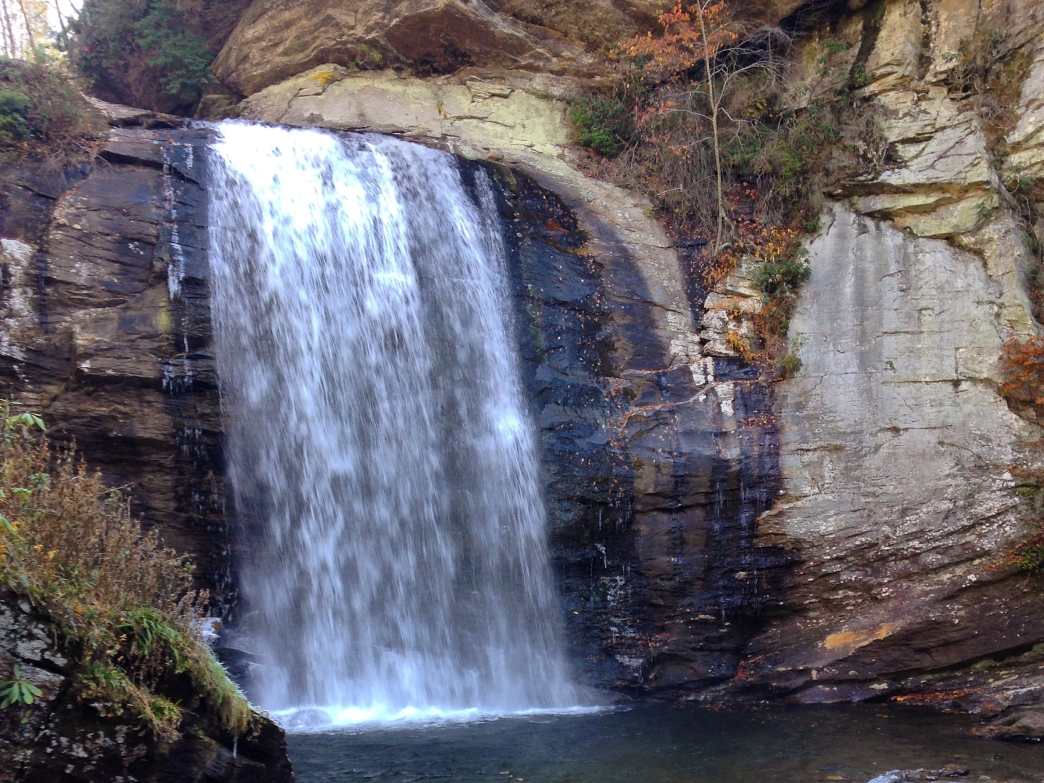 Looking Glass Falls is one of the many waterfalls in the Pisgah National Forest.