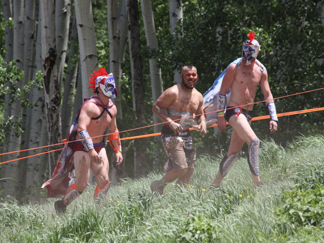 Costumes are always encouraged at Tough Mudder.