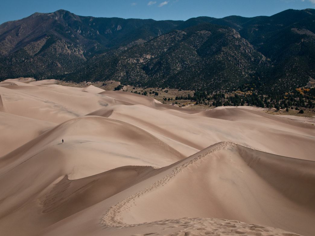 Exploring the Great Sand Dunes National Park.