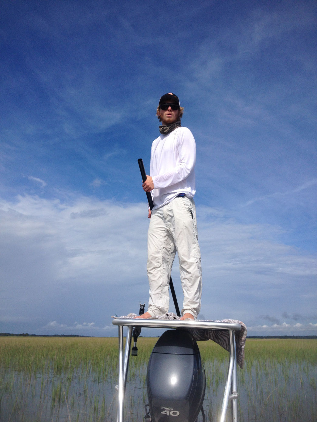 Capt. Harry Tomlinson will help you pull in the  big redfish.