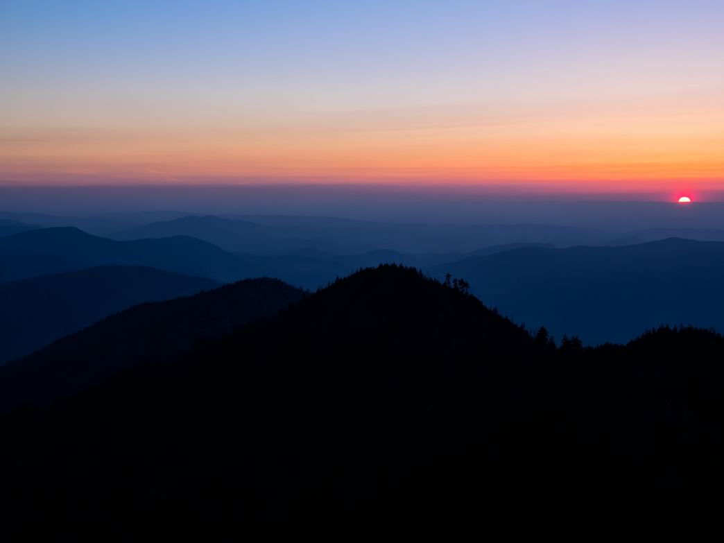 Great Smoky Mountains Sunset Mt LeConte