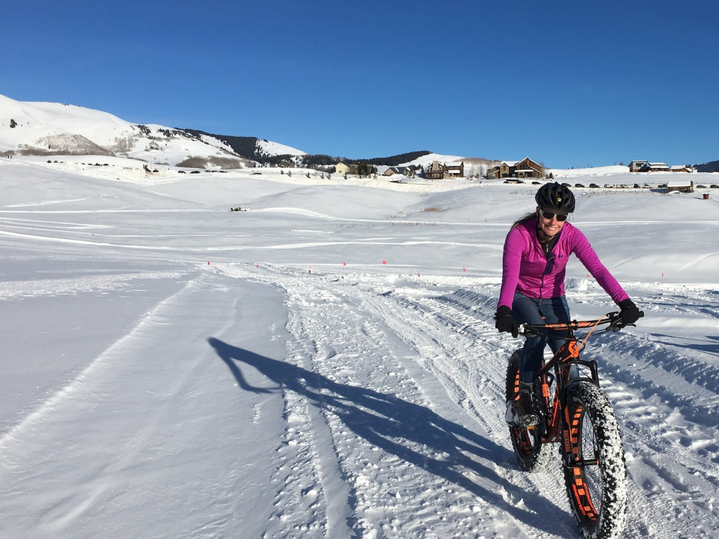 Hard-packed trails are best for fat biking.