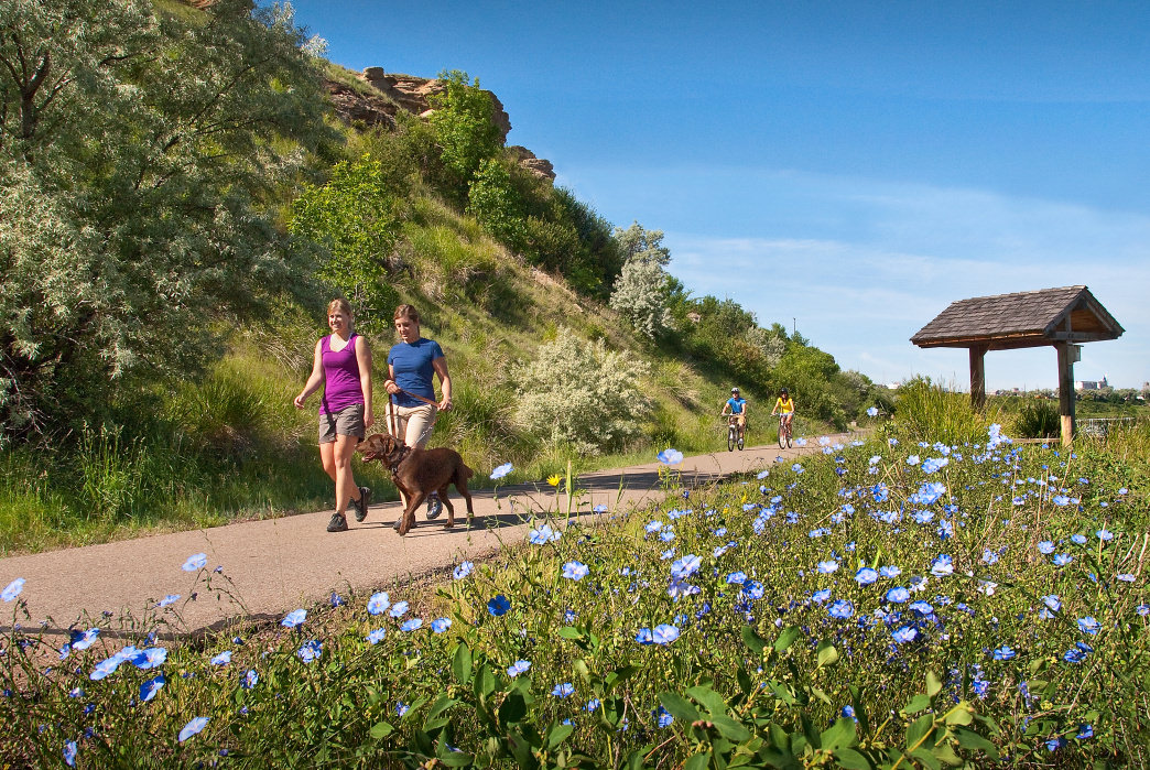 The River's Edge Trail covers 58 miles of the Missouri River in and around Great Falls.