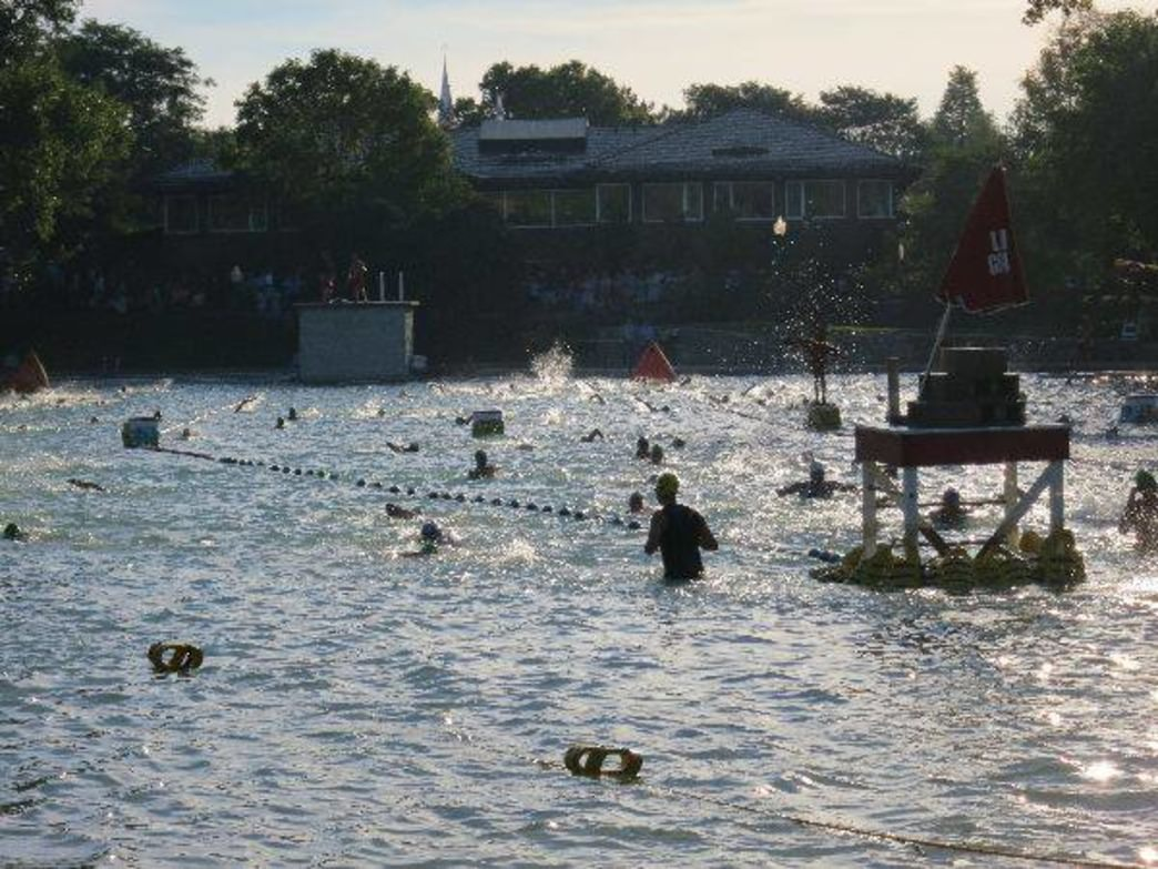 Centennial Beach is home to the Naperville Sprint Triathlon.