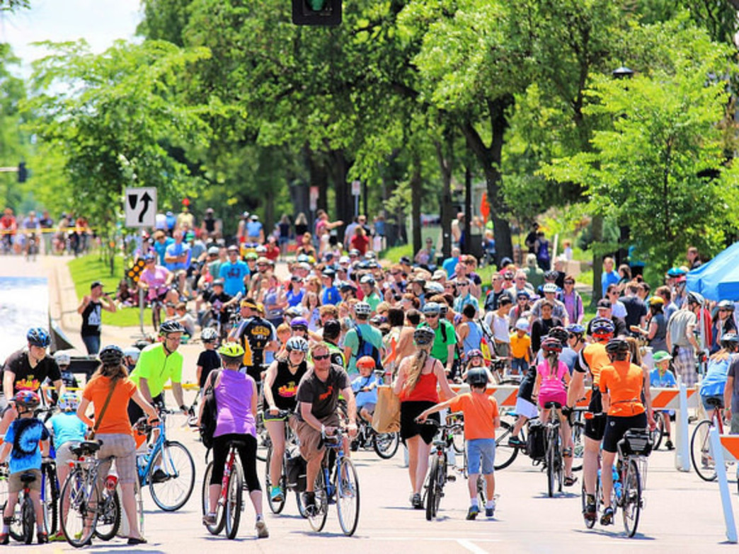 The Minneapolis Bicycle Coalition routinely draws big numbers to its events across the city.