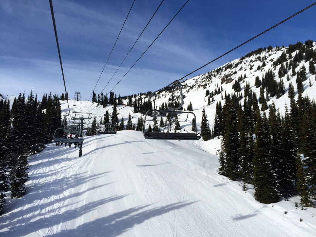 There is nothing like a bluebird day skiing at Crystal Mountain.