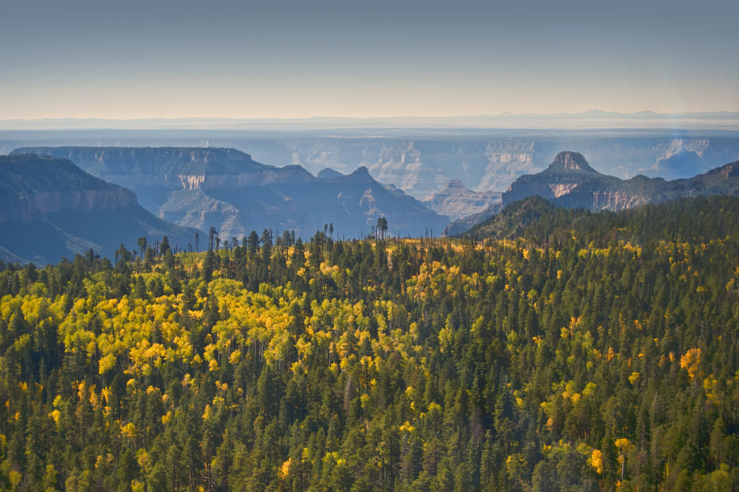 The Grand Canyon finally cools down in fall.