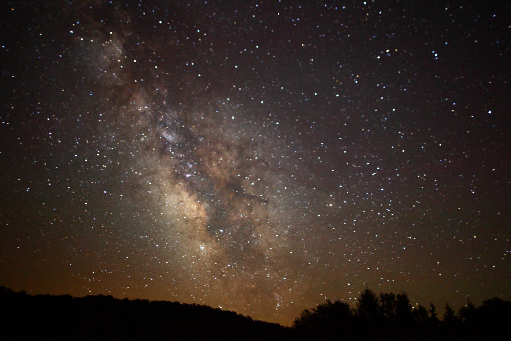 The Milky Way over the Monongahela National Forest.