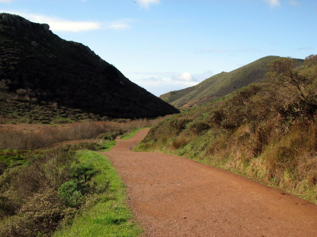 The Tennessee Valley Trail is one of the most popular trails in Marin.