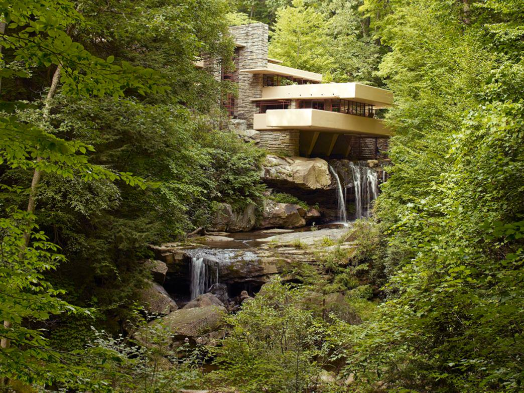 Frank Lloyd Wright's masterpiece: Fallingwaters in rural Pennsylvania