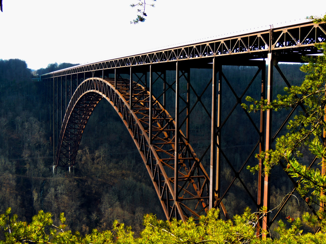 The New River Gorge Bridge, one of the most photographed places in West Virginia.     JWorst