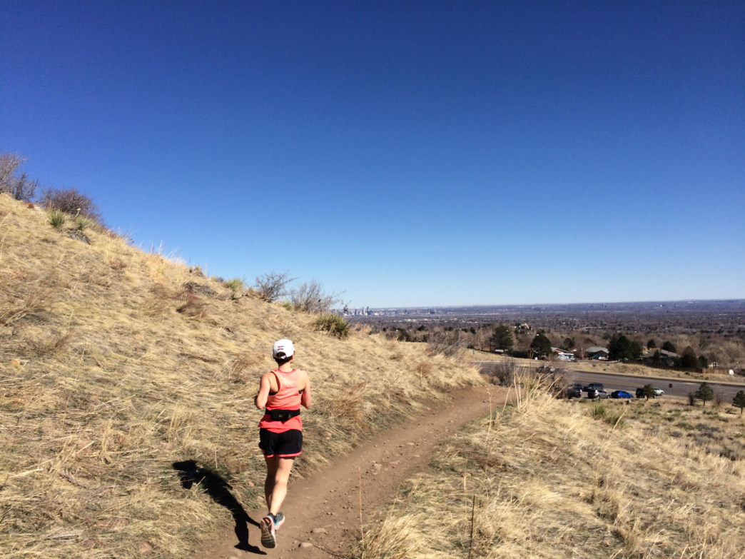 Trail running on Green Mountain near Denver.      Sean Wetstine
