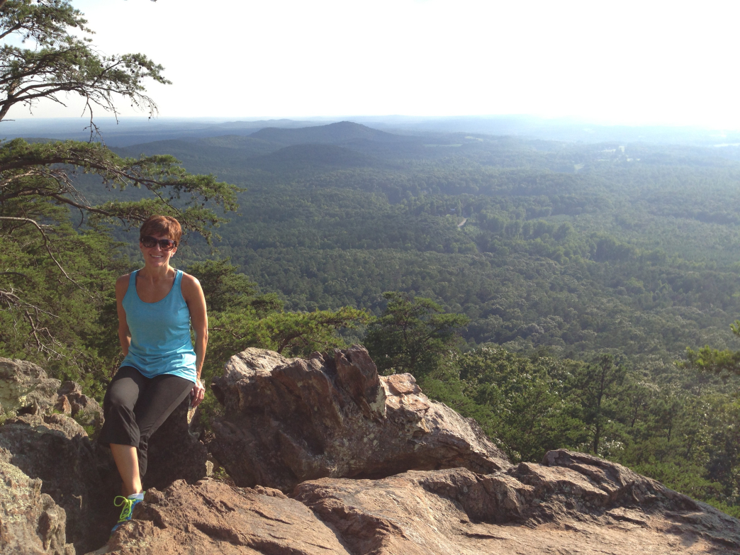 Stacy Rumfelt on her favorite peak at Crowders Mountain State Park