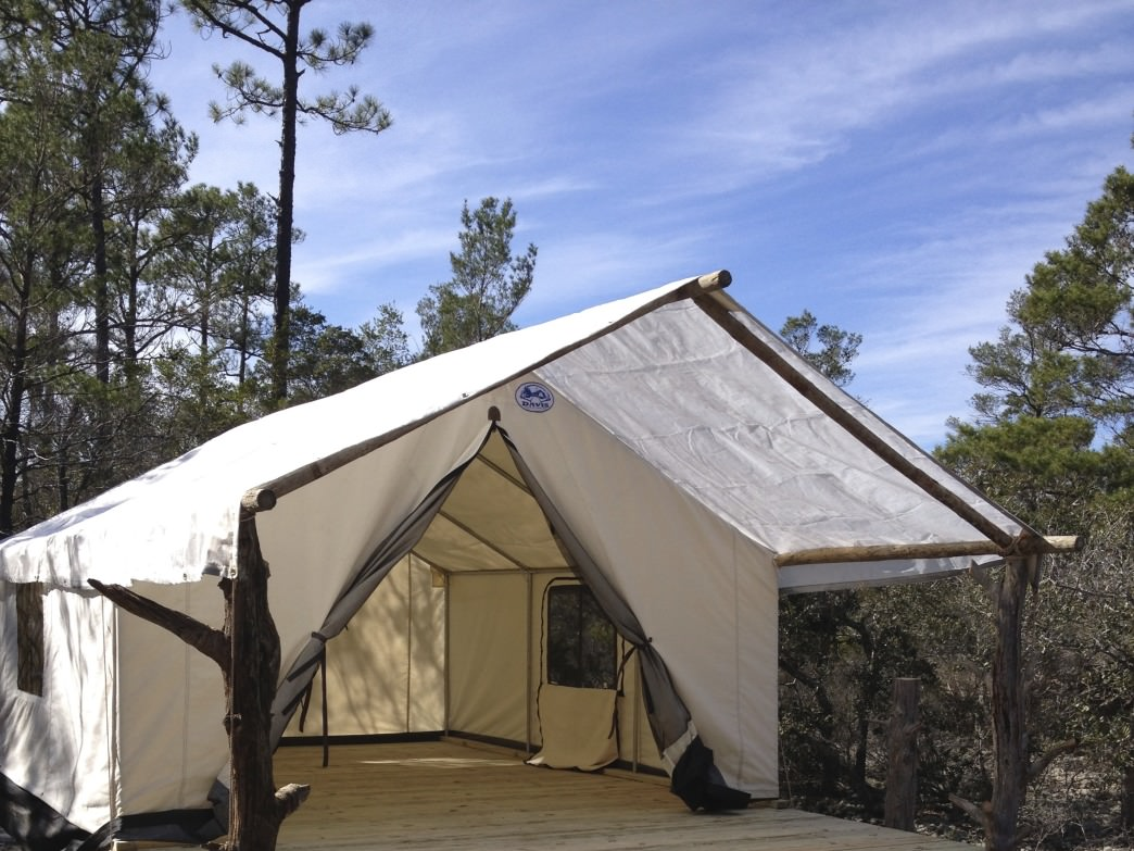 You'll feel like you're in the wilds of southwest Arizona in the canvas tents of the Outpost.
