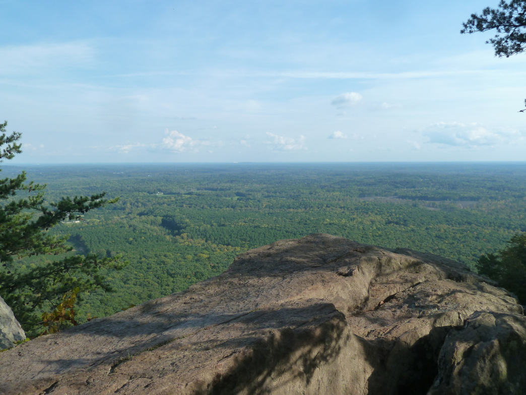 The best views around are from the top of Crowders Mountain.