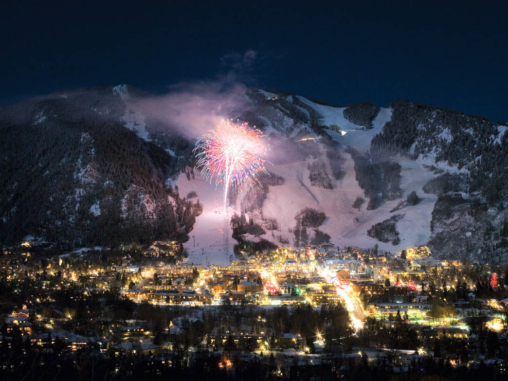 Several switchbacks that wind up the side of Smuggler Mountain. From anywhere along the road you can look back across the lights of downtown Aspen and have a perfect view of the fireworks.