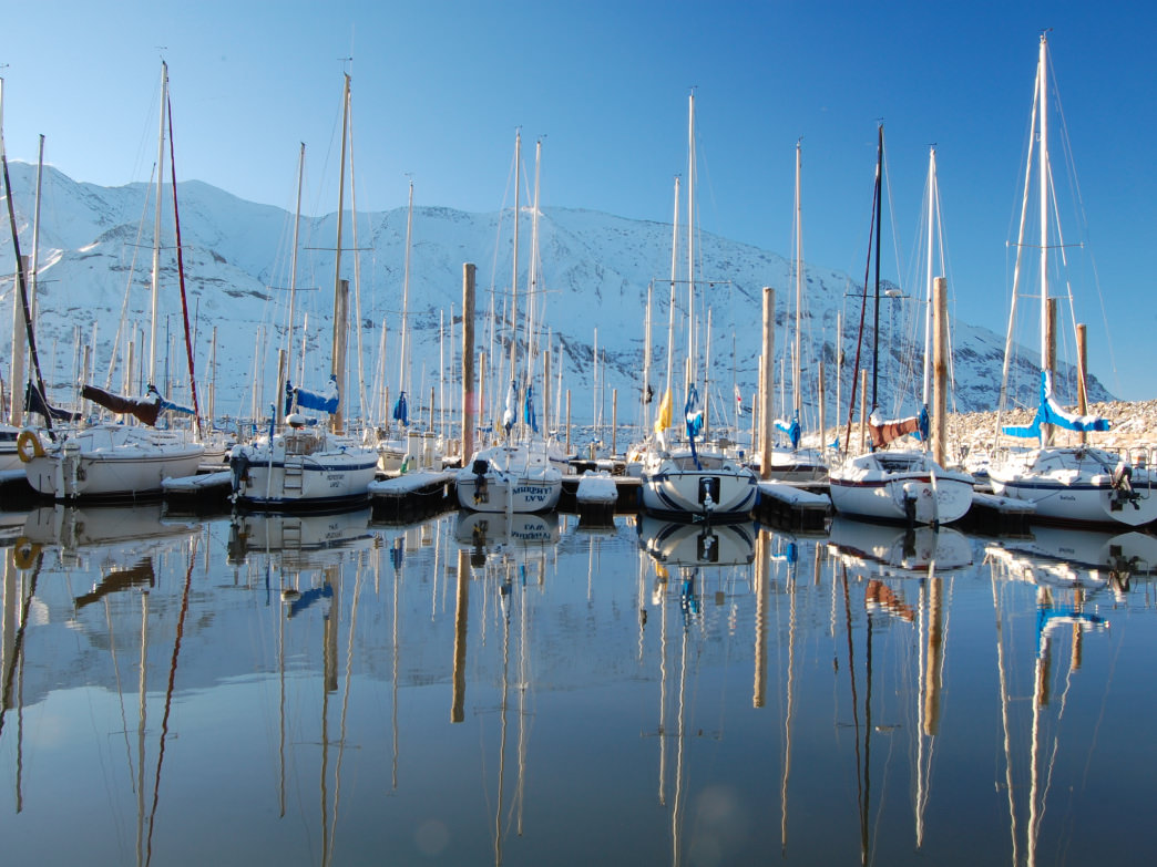Make sure to visit the Great Salt Lake State Marina.