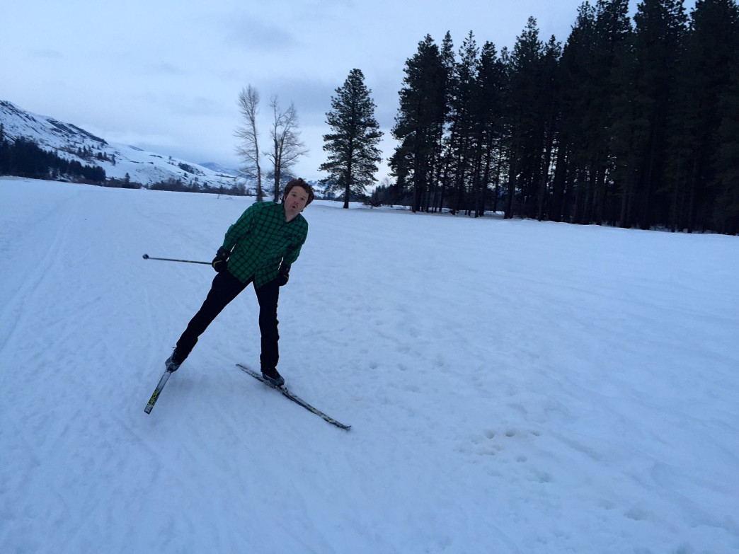 If you haven't tried it, skate skiing is surprisingly hard—and surprisingly fun.