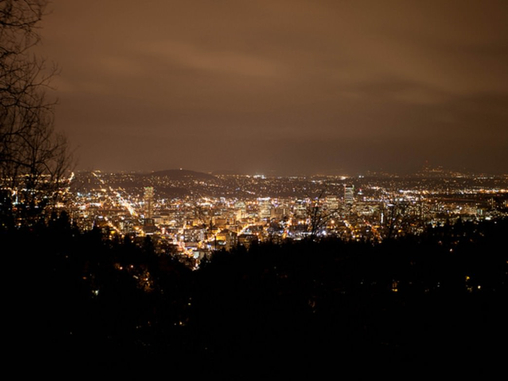 Pittock Mansion offers not only great views of the fireworks, but of the Portland skyline, too.