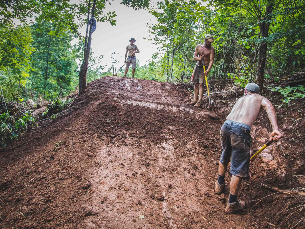 A huge number of volunteers has helped the Appalachian Mountain Bike Club build trails all over Knoxville.
