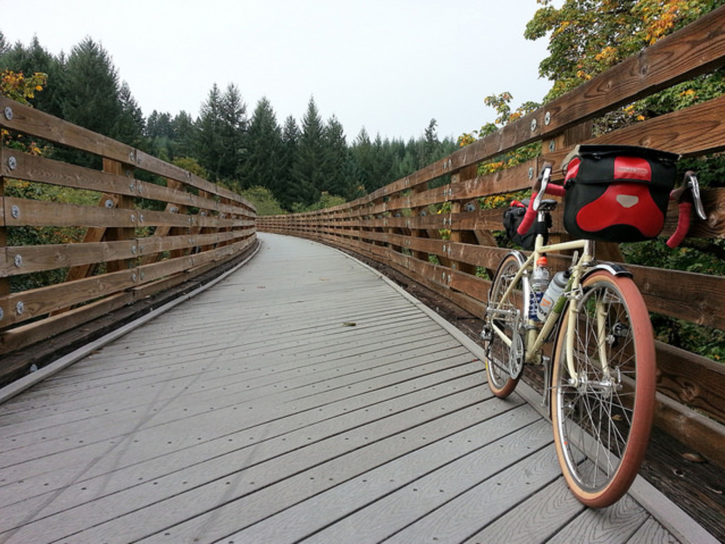 The Banks-Vernonia State Trail is popular among regional cyclists.