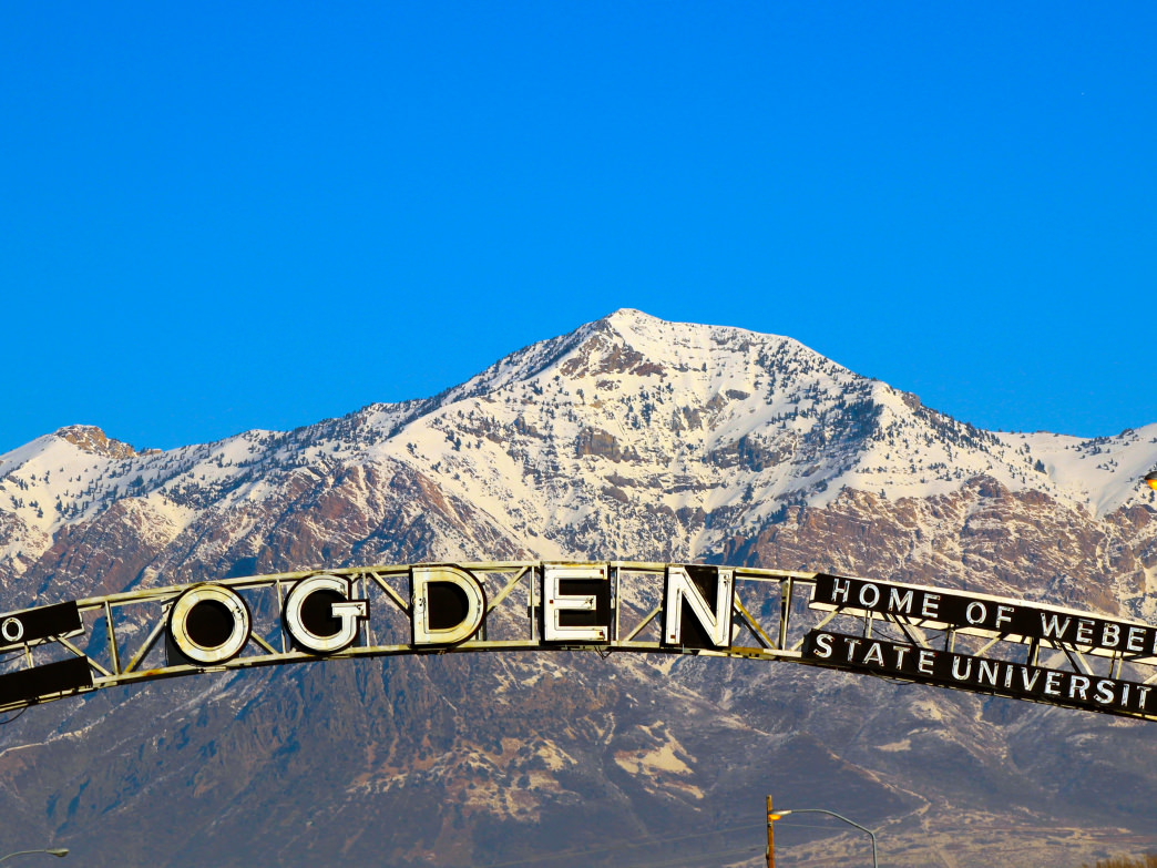 Ben Lomond is a beautiful backdrop to the city of Ogden.