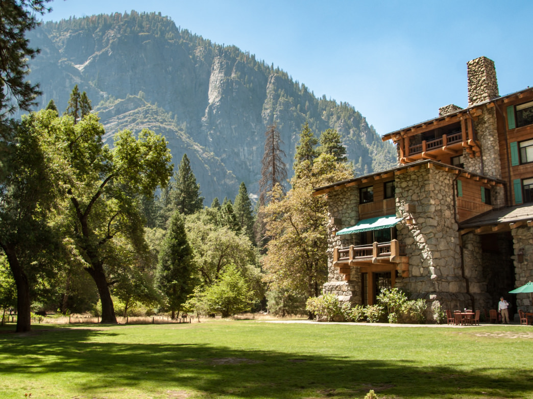 In-park hotels like the Majestic Yosemite Hotel at Yosemite National Park add an element of luxury to any outdoor adventure.