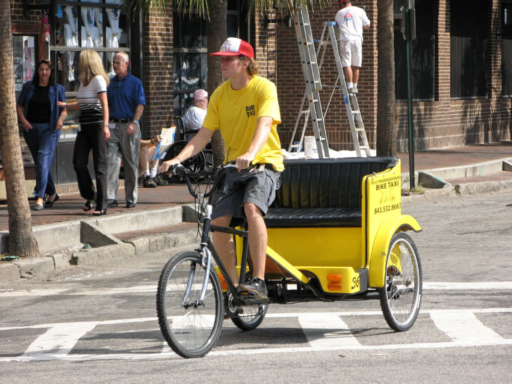 If you don't feel like pedaling yourself, rickshaws are always an option