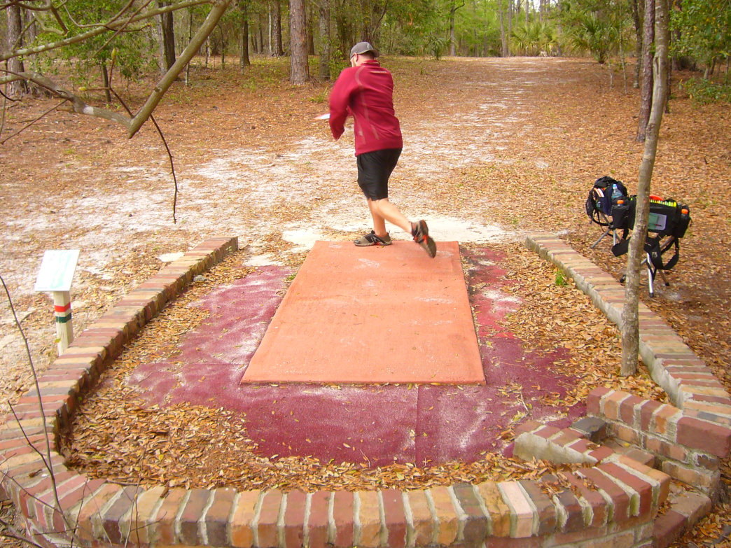 Enjoying a round of disc golf is a great way of exploring the outdoors.