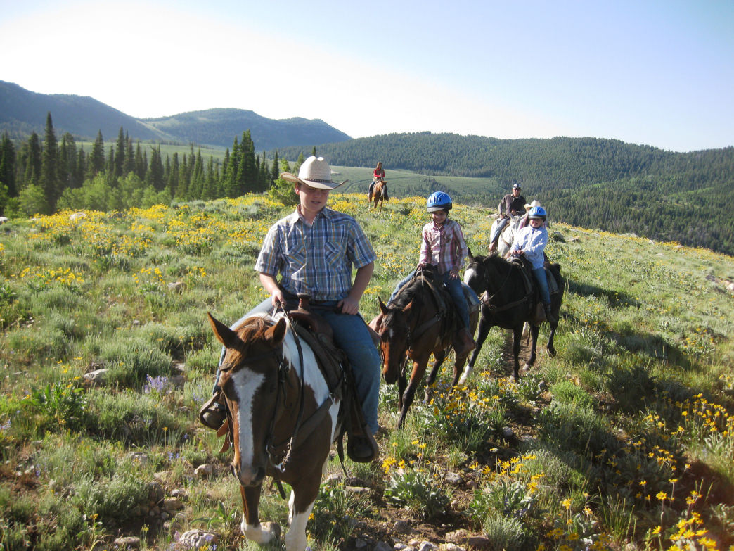 Renting horses or off-road vehicles are popular ways to explore Logan Canyon.