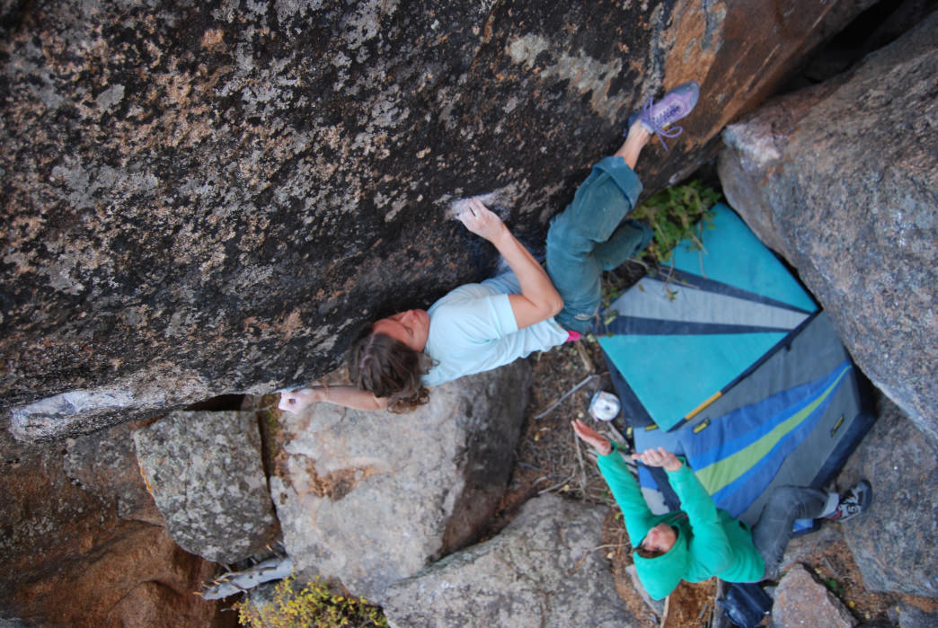 Endo Valley is one of the many bouldering areas within Rocky Mountain National Park.     Eric Lang