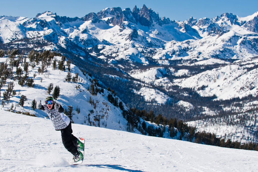 Skiers and snowboarders regularly drive up from SoCal to hit the slopes at Mammoth for a weekend.
